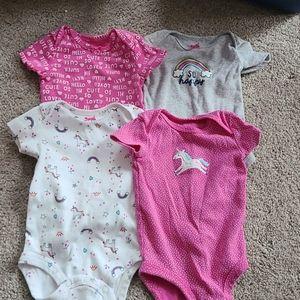 Carters Baby Girl Bundle Onsie bodysuit 3M